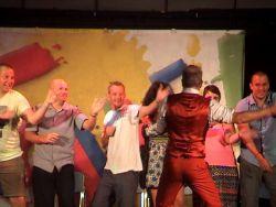 Hypnotist shows party dance