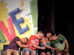 Warm and suggly In a hypnosis show