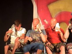 I'm ON THE PHONE! In a hypnosis show