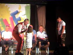 We all need help sometimes In a hypnosis show