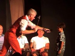 Harry Potter hypnotise your dad. In a hypnosis show